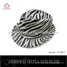 Mode Zebra-Streifen Trilby Hut