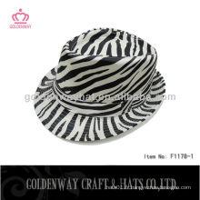 Chapeau Trilby Zebra-stripe de mode