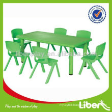 Plastic Children Table for kindergarten, square table, half moon table, kid table and chair set, cheap table LE.ZY.003                                                     Quality Assured