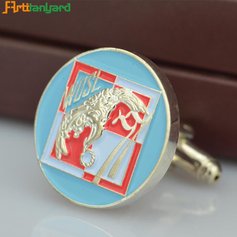 Metal Cufflink For Decoration