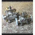 Válvula de bola sanitaria de 3 piezas con almohadilla de montaje Direcrt ISO 5211