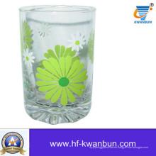 Copa de vidrio de beber con Decalque de impresión Home Decorationkb-Hn0410
