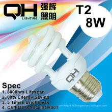 Energy Saving Lamp/CFL lampe 8W 2700K / 6500K E27/B22