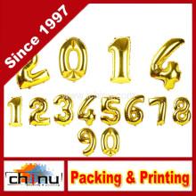 Goldener Zahl-Folien-Ballon für Weihnachtsfeiertag-Parteien (420055)
