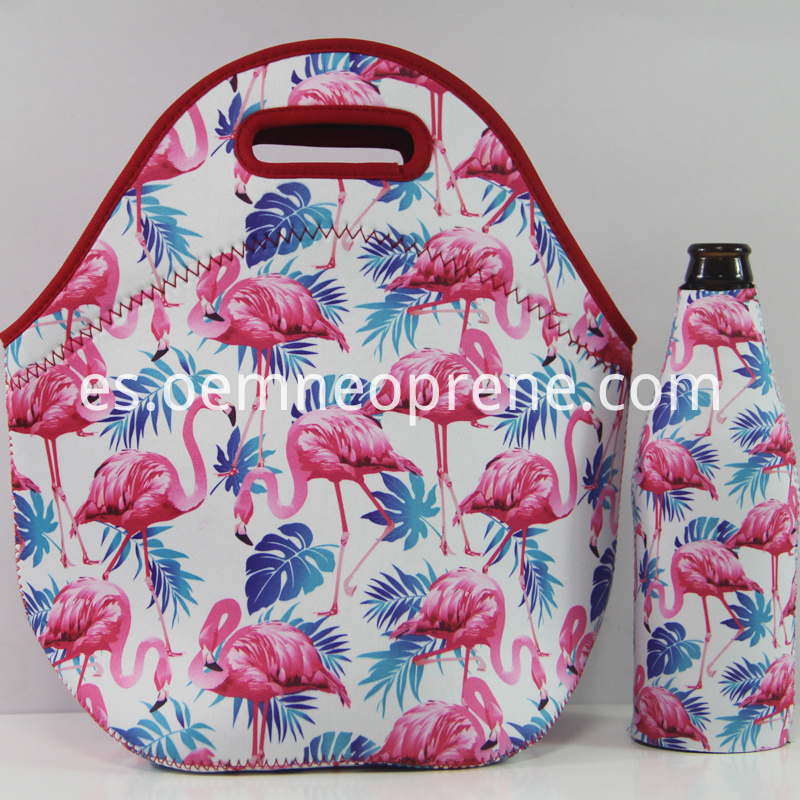 Flamingo lunch bags