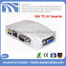 VGA to AV Signal TV S-Video Converter Box Adapter Supports NTSC PAL system
