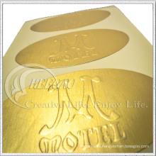 Diseño popular 2016, etiqueta autoadhesiva del metal, etiqueta engomada de papel, PVC y etiqueta engomada del animal doméstico (KG-ST009)