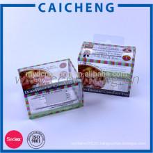 Custom Printed PVC Rigid Clear Plastic Package Box