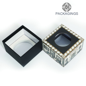 Custom watch box wholesale with clear window