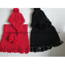Promotion Lady Winter Warm Knitted Acrylic Set