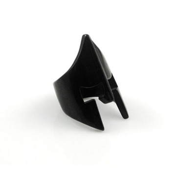Uomo Moda Spartan Helmet Black Rings For Men