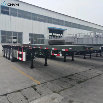Best Selling 2 Axles Flatbed Container Semi Trailer