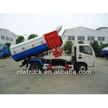 Dongfeng mini 4-5 toneladas de basura de camiones con mecanismo de elevación