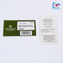 Los proveedores chinos personalizados Código de barras de productos Etiquetas de texto explicativas