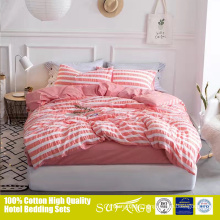 Popular ins stripes Korean kids bedding set in seersucker fabric