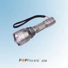 150lumens CREE Xr-E Q5 High Power Tactical LED Flashlight (POPPAS-C10)
