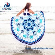 Factory direct china reactive printing round towel beach