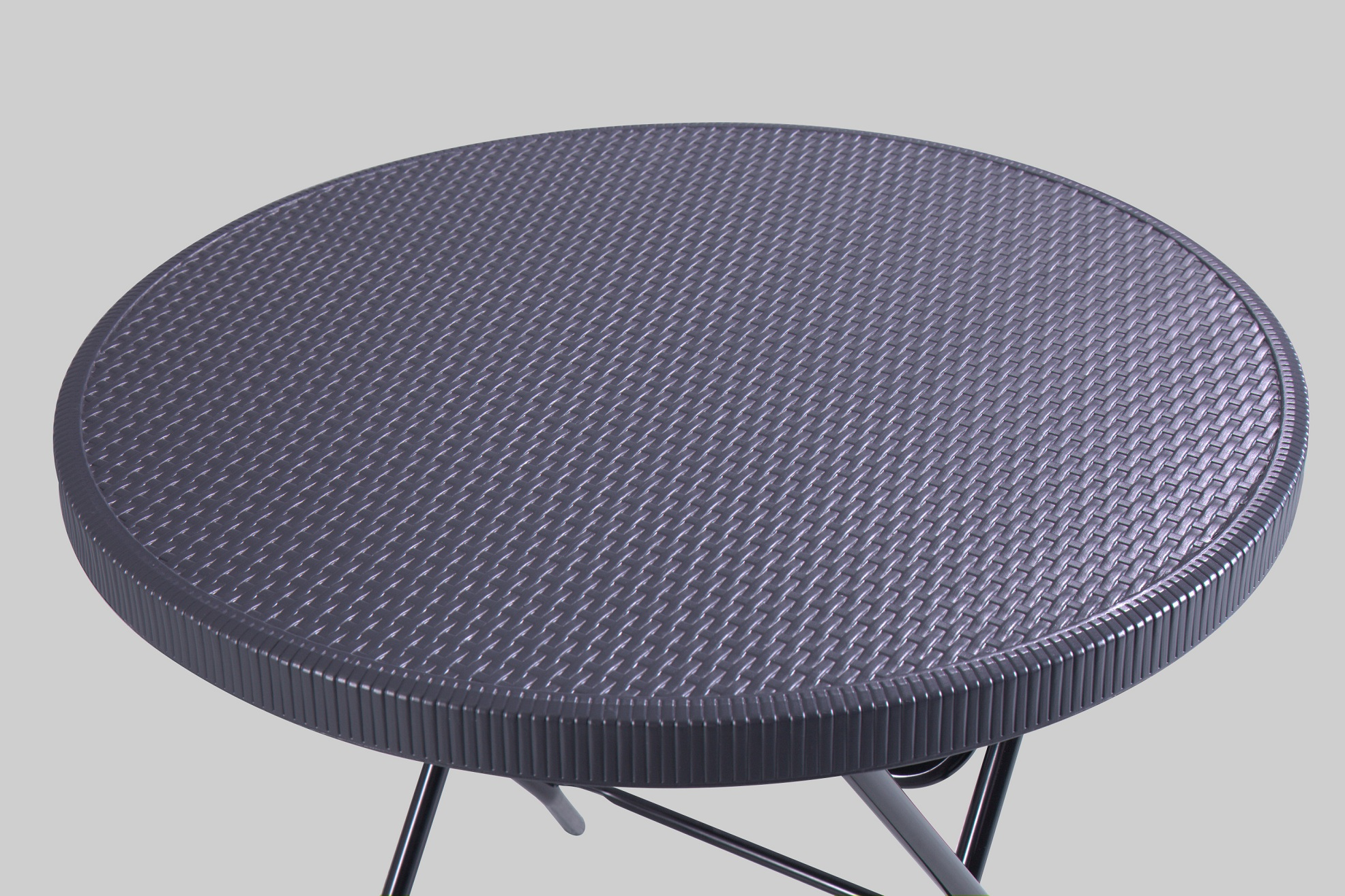 Round Table with Rattan Design