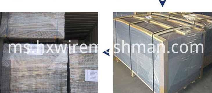 packing of wire mesh panel 2