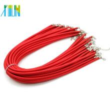 Mode Red Choker Seide Schnur Halskette mit Verschluss auf Lager, 100 teile / paket, ZYN0011-rot