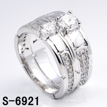 Joyería de moda 925 Anillos de plata con zirconia (S-6921)