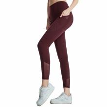 Damen Mesh Yoga Leggings mit Tasche