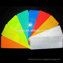 Hoja de PVC reflectante prismática colorida