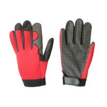 Micro Fiber Silikon Punkte Palm Mechanic Handschuh-7216