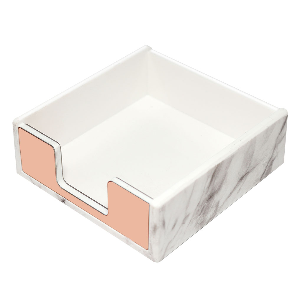 Acrylic Memo Pad Holder Marble