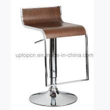 Ресторан высокой фанеры барный стул с хромированной ноги (СП-BBC202)