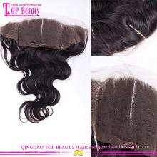 Des fermetures de bases en soie dentelle onde naturel frontale cheveux humains indiens des fermetures de bases soie dentelle de haute qualité frontale