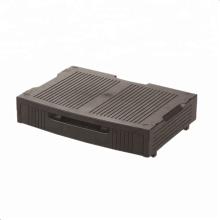 organizador de escritorio de cajón negro de plástico flexible
