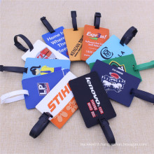 Custom Luggage Tag 2D Logo Soft PVC Label with Strape