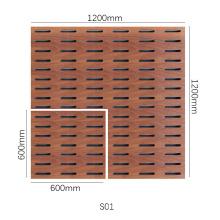 Melamine Slot Wooden Timber Eco Friendly Acoustic Panel