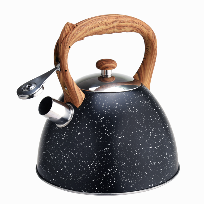 Woodlike Marble Induction Cooktop Tea Pot 410