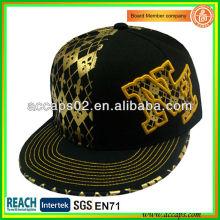 Black Flat Brim Snapback Caps de qualité supérieure SN-1198