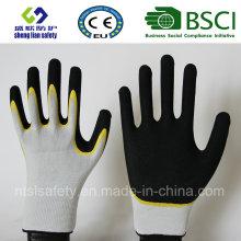 Gants givrés au latex, gants de travail de sécurité de finition sablonneuse (SL-RS302)