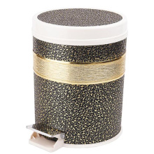 Foot Pedal Leather Covered Dust Bin for Guestroom (FF-0297)