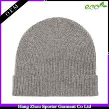 16FZBE05 beanie cap fall winter men rib knit custom beanie cashmere