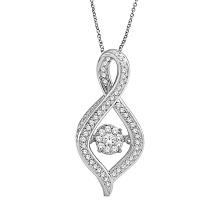 Micro Pave Einstellung 925 Silber Anhänger Schmuck mit Tanzen Diamond