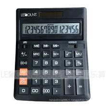 Calculatrice de 16 chiffres à double alimentation Office avec porte de batterie optionnelle (CA1092A16)