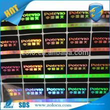 Comparação de preços de tv, segurança de animais, etiqueta de holograma em série, garantia de holograma redondo com logotipo personalizado