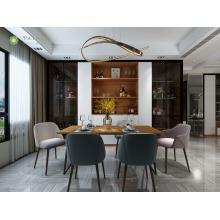 Ensemble de meubles de salle à manger élégant et personnalisé en mélamine