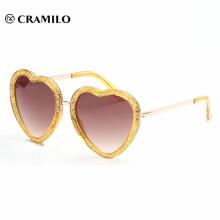 heart shape frame glitter metal temple sunglasses,heart sunglasses women