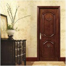 Puertas de entrada de madera sólida tallada clásica, opción sin fin personalizada de la fábrica