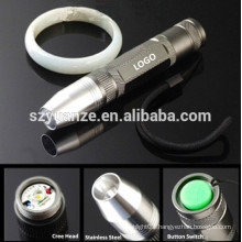 wholesale LED Stainless Steel Rechargeable Mini Jade Testing Flashlight