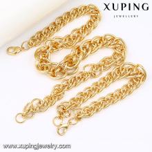 63844 moda legal 18k banhado a ouro Alloy cobre imitação de jóias cadeia conjunto
