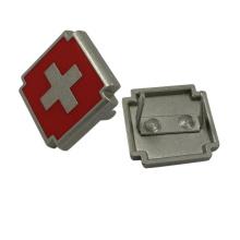 Diseño de la Cruz Roja de metal personalizado Logo Plate para bolsos