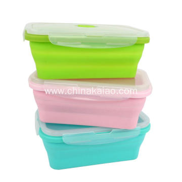FDA Heat-resistance Hot Selling Silicone Collapsible Lunch Box