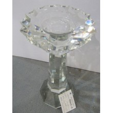 Carystal Candle Holder with Single Poster for Home Decoration
